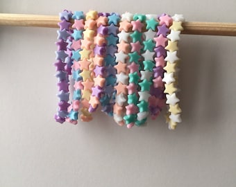 Pastel Kawaii Lolita Little Star Stretch Bracelet Cute Fairy Kei Jewellery