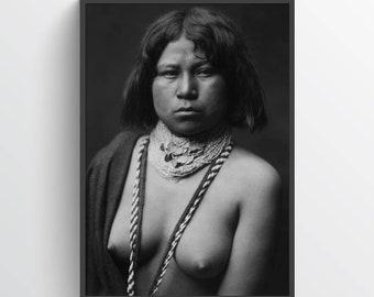 Native American Indian Print, Mojave woman ca. 1903, Indigenous Americans, American Indian, indigenous people, NA01P