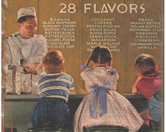 "Howard Johnsons Ice Cream 28 Flavors Ad 10"" X 7"" Reproduction Metal Sign N180"