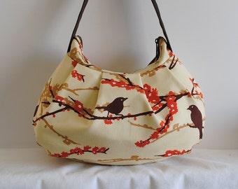 SALE // Pleated Bag // Shoulder Purse - Sparrows in Bark