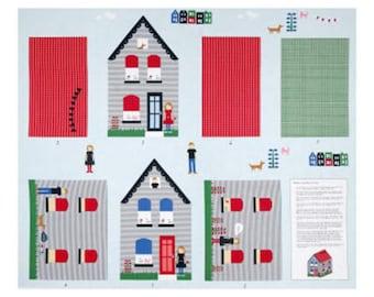Neighborhood Pillow Cotton Fabric Windham Alyson Beaton By the Panel