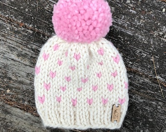Baby-Toddler-Child Fair Isle Beanie with Pompom