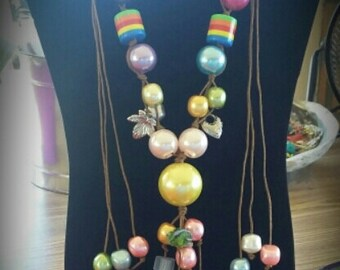 Acrylic fun and whimsy necklace