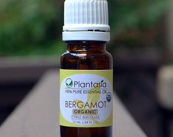 Bergamot Certified Organic Essential Oil 100% Pure Natural Therapeutic Grade from Italy by Planet Plantasia