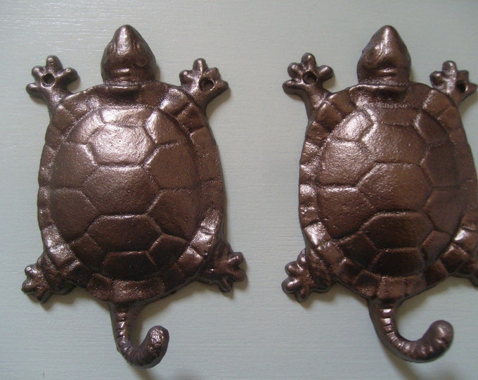 Turtle wall hooks sea turtle rescue N E S T gift for animal lovers key rack wall decor wildlife preservation coastal living Outer Banks OBX