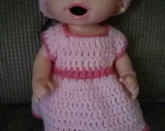 Crochet Baby Alive Doll Dress Outfit.