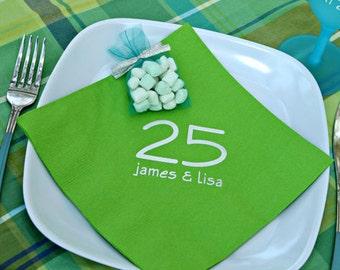 Personalized Dinner Napkins, Monogrammed, Custom, Paper, Wedding Napkins, Buffet Napkins