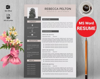 Resume template|Professional resume template|Resume template word|CV|curriculum vitae|Resume writing|graphic design template