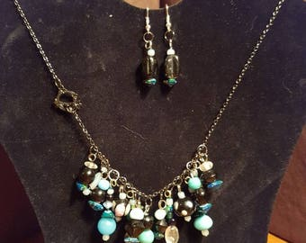 Water necklace and earring set.