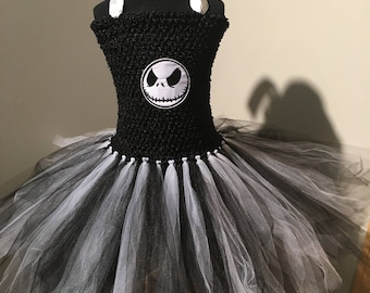 Jack Skellington Nightmare Before Christmas Tutu Dress Up Costume (4T - 7/8Y)