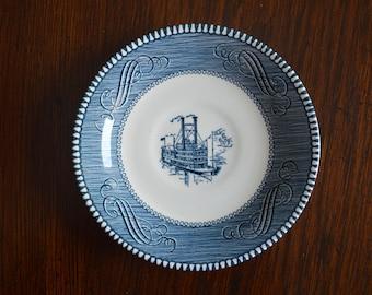 Vintage Currier & Ives saucers