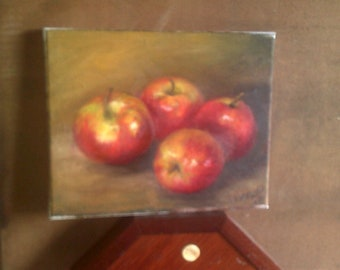 Original Still Life Painting Apples