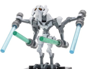 1 minifigure of Star Wars General grievous with 4 light swords, new