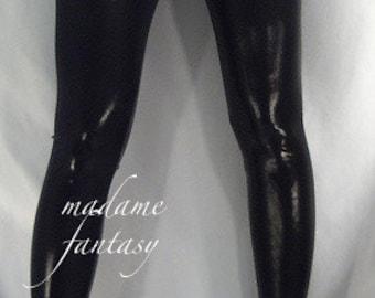 Black shiny Wet Look leggings