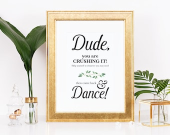 Wedding Bathroom Signs