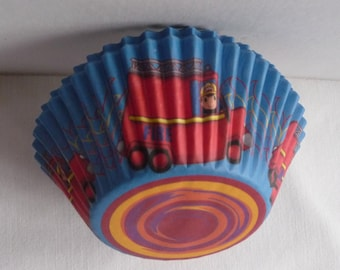 Fireman CUPCAKE Wrappers, cupcake cases, cupcake liners, Pack of 50