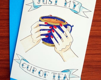 SALE! Just my cup of tea. For tea lovers, and lovers of tea. Let someone know how you feel about them.