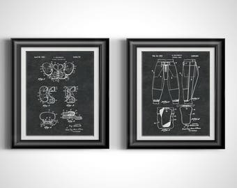 Football Coach Decor * Gift for Football Coach * Gift for Coach * Football Coach Gift * Assistant Coach Gift * Patent Prints Set of 2 PP2213