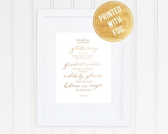 Hand Lettered Print-Watch with glittering eyes: Hand Drawn Art Print