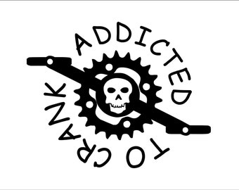 Addicted to Crank Mountain Biking/Biking Decal