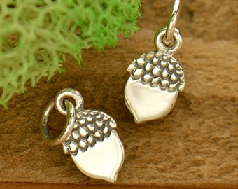 Acorn Charm - Sterling Silver