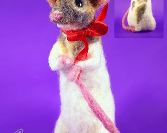 Needle felted Pet rat/mouse