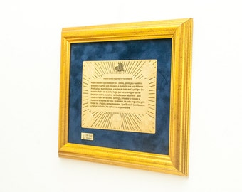 Framed Soldier's Prayer Gift for home decor American Army Israeli Army Solider's Prayer for safety Also Available in Spanish