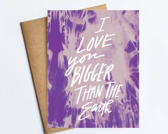Bigger Than The Earth - NOTECARD - FREE SHIPPING!