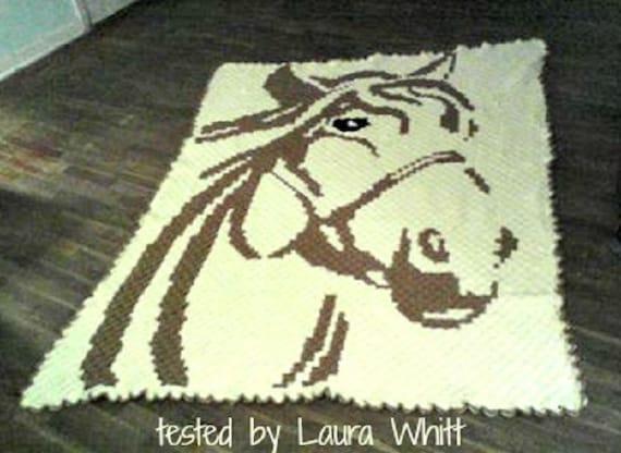 Horse C2C Graph & Word Chart, crochet pattern, corner to corner ...