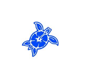 Aloha Sea Turtle Inspired Vinyl Decal Sticker