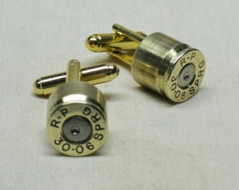 Bullet Cufflinks 30-06 Brass - Wedding Cufflinks Gift for Men
