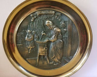 Vintage forged handmade plate De Apotheker Wall decoration