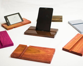 Electronic device wooden stand