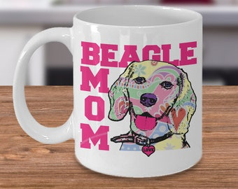 Beagle Mom Mug - Beagle Mom Gift - Beagle Gifts, Cute Beagle Lovers Coffee Mug, Beagle Dog, I Love Beagles, Beagle Mug For Her, Beagle Lover