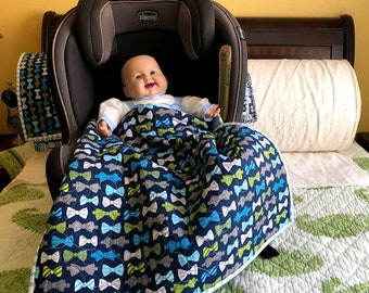 Bow Tie Stroller/Car Seat Quilt
