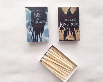 Six of Crows and Crooked Kingdom Book Matches // Leigh Bardugo // Stocking Stuffers