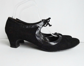 Original 60s Christel Of Copenhagen Suede Lace Up Shoes // By Astra // Size 39 // Made In Denmark