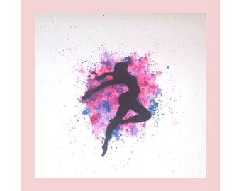Watercolour Ballerina/Dancer artwork print.