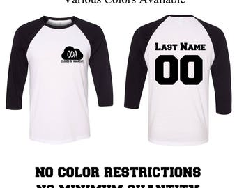 Custom Baseball T-Shirt Your Design or Text Here Custom Baseball Tshirt Custom Baseball Tee Custom Clothing Unisex Adults Womans Mens Youth