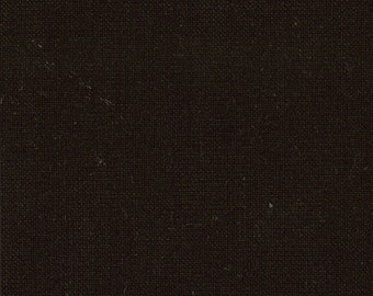Solid Midnight Black Fabric - Bella Solid Soft Finish by Moda Basics Fabrics 9900 99 - Priced by the 1/2 yard