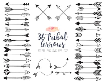 BUY 2 GET 1 FREE 36 tribal arrow svg dxf eps - vector tribal arrows clipart - tribal arrow clip art - vector arrow - Commercial Use ok