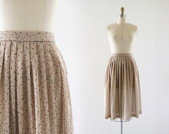 1970's honey midi skirt