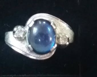 Vintage Sapphire Cabochon Ring