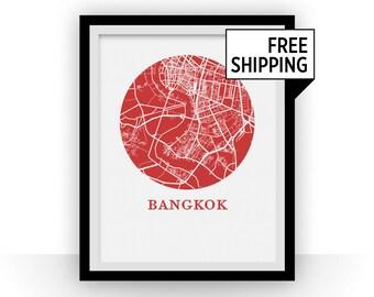 Bangkok Map Print - City Map Poster