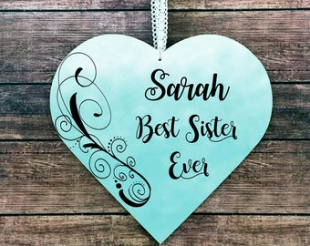 Sister Gift for Sister Personalized Sister Signs Sister Plaque Little Sister Big Sister Brother to sister Sister gift ideas Sister Birthday