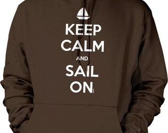 Keep Calm and Sail On, Love To Sail Hooded Sweatshirt, NOFO_00672