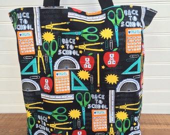 Shopping Bag, Large Tote Bag, Reusable Bag, Teacher Bag