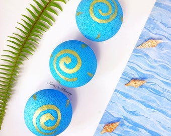 Sea goddess BATH BOMB - Mermaid Bath Bomb - bath Fizzy - blue bath bomb - pearl bath bomb - bath fizzies - Fizzbanger bath bomb - ocean