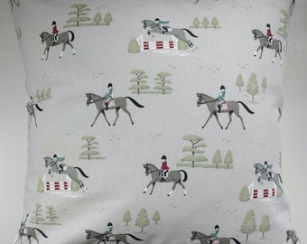 "Cushion Cover in Sophie Allport Horse Riding 14"" 16"" 18"" 20"""