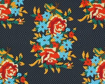 PROMO cotonpatchwork PWAH 063 Twill Bouquet fabric orange x1m